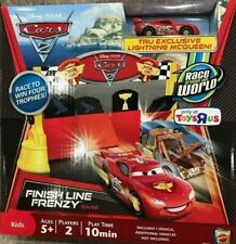 Disney Cars 2 Finish Line Frenzy Game W/ 1 Exclusive Lightning McQueen in Gold