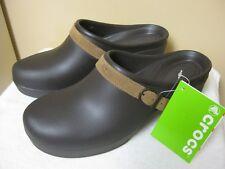 3b9df49ce CROCS SARAH Clogs Mules Shoes Espresso Standard Fit Low Platform NWTS Size  11