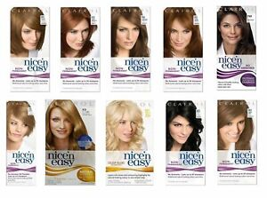 CLAIROL NICE 'n EASY PERMANENT & SEMI PERMANENT HAIR DYE COLOURS WOMEN *SELECT*