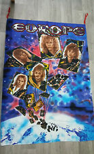 Europe the final countdown VERY RARE rock group vintage music poster FLAG