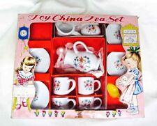 Vintage 1940'S Toy China Tea Set 15 Pieces Pink Floral Japan