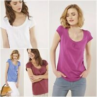 WHITE STUFF short sleeves top tee t-shirt Lana Alice Ava 11 colours 100% Cotton
