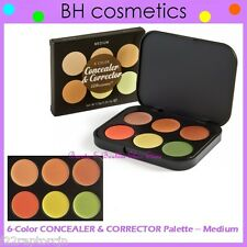 NEW BH Cosmetics 6-Color CONCEALER CORRECTOR PALETTE-Medium Shades FREE SHIPPING