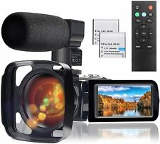 Video Camera Microphone HD 1080P 24MP Vlog YouTube Camcorder 16X Digital Zoom