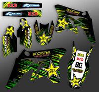 2003 2004 2005 2006 2007 2008 KAWASAKI KX 125 / 250 GRAPHICS KIT ROCKSTAR: GREEN