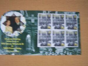 B.I.O.T,2007,QE11 DIAMOND WEDDING,SHEET OF 6  X 54P VALUES,U/M.CAT £9.60.