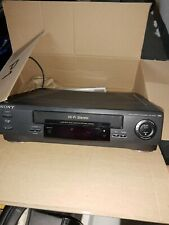 Sony Slv-679Hf Vcr Vhs Player Recorder 4 Head HiFi Remote, Cables Tested Cleaned