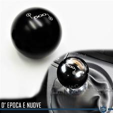 POMELLO Leva Cambio NERO per FIAT 500 Nuove e Epoca Universale in Acciaio INOX