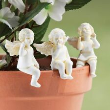 Set/3 Cherub Pot Plant Sitters Figurine New In Box Deluxe Last ones Sale Gift