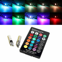 T10 16 Colours RGB LED Car Interior Roof Dome Bulbs Lights Under Dash Parking