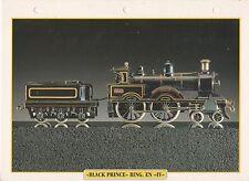 TRAINS DE LEGENDE - LOCOMOTIVE BLACK PRINCE BING EN IV FICHE COLLECTION TBE