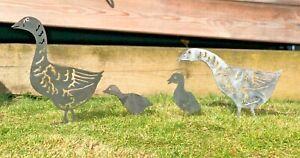 Geese Goose Family Chicks Ducks Garden Metal Sign Wall Art CNC DecorMetal 20%Off