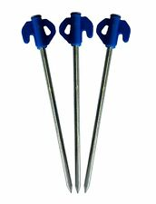 10 HEAVY DUTY TENT PEGS STEEL METAL GROUND STAKES CAMPING GAZEBO TARPAULIN HOOKS