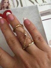 Rebecca Minkoff Ring Size 4-7  Gold Color  Crystal NEW$65