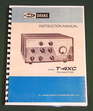 """Drake T-4Xc Owners Manual: 11"""" x 17"""" Foldout Schematic & Protective Covers!"""
