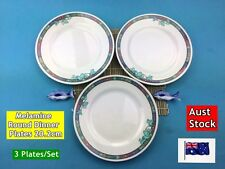 "NEW Melamine Round Dinner Plates Flower Pattern 9"" 20.2cm - 3 plates/set (B73)"