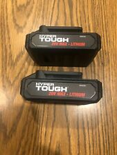 2 Hyper Tough Ht Charge 20-Volt Max Lithium-Ion Battery For Drill Power Tools