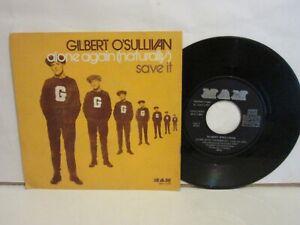 Gilbert O´Sullivan - Alone Again / Save It - Single - 1972 - Spain - VG/VG
