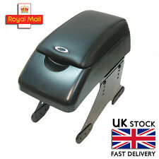 Universal Armrest Centre Console Black Faux Leather Fits Peugeot 406 206 207 307