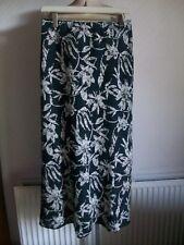 WALLIS 100% Linen Black/Off-White Maxi Skirt, Size 14