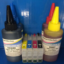 REFILLABLE Cartridge 400ml INK FOR Epson Expression Home XP342 XP345 XP432 XP435