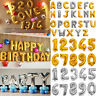 "16"" Large Foil Letter Ballons Number Ballon Float Helium Alphabet Silver Gold"