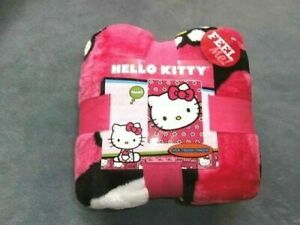 "Hello Kitty Scenario - Soft Silk Touch Throw Blankets 46"" x 60"" Kohl's Pink NWP"