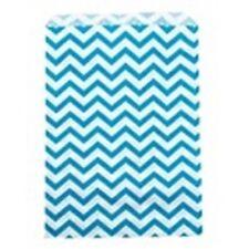 500 Blue Chevron Merchandise Retail Paper Pary Favor Gift Bags 4 X 6 Tall