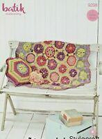 Crochet Pattern Stylecraft 9298 DK Batik  Hexagonal design blanket & cushion NEW