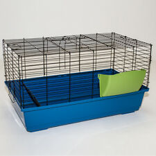 RABBIT GUINEA PIG INDOOR CAGE HUTCH - 80CM/100CM/120CM - HAY RACK WATER BOTTLE