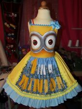 Handmade Despicable Me Minions All Over  Dress Size 4t/5t