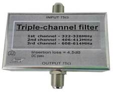 Triple pass filter  322-328MHz + 406-412MHz + 608-614MHz, RADIO ASTRONOMY filter