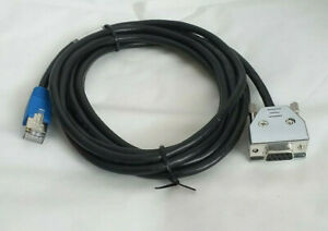 DB9 9-Pin Serial Port RS232 to RJ45 Cat5 Ethernet LAN Cable 1.8m