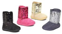 New Kids Boots Toddler Girls Cute Shiny Sequins Infant Shoes-275