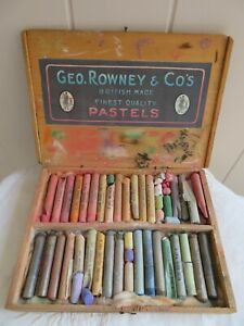 Vintage Geo Rowney Artists Very Soft Pastels Boxed