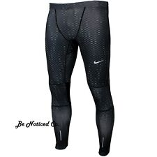 Nike Graphic Essential Tights S Black Reflective Gray Gym Casual Training New