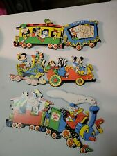 VINTAGE NURSERY DECOR DISNEY TRAIN MICKEY MINNIE DONALD DUMBO