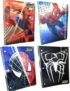 Marvel Spiderman 3 Spiral Notebook- 1 Subject- 60 pages- Wide Ruled Sheets Paper