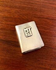LEONORE DOSKOW STERLING SILVER MATCH BOX SAFE HOLDER: APPLIED MONOGRAM