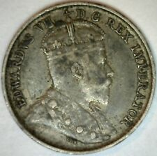 1908 Canadian Silver 5 Cents Coin 5c Edward VII Canada Type Coin Very Fine KM 13