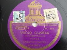 78rpm Carlos Gardel - Viejo Curda / Noche de Reyes, Tango - Odeon 203.093