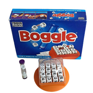 BOGGLE THE 3 MINUTE WORD GAME! BY PARKER  VINTAGE 1996 EDITION COMPLETE