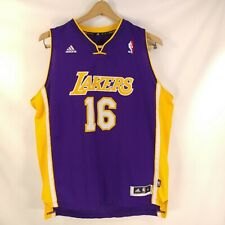 "Adidas NBA Jersey Los Angeles Lakers 16 Gasol Purple Youth XL + 2  44"" Chest"