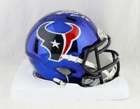 Lamar Miller Autographed Houston Texans Chrome Mini Helmet- JSA W Auth *White
