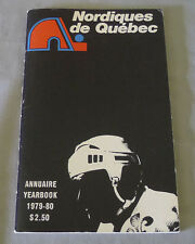 Original 1st NHL Year Quebec Nordiques 1979-80  Official Hockey Media Guide