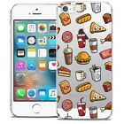 Coque Crystal Pour iPhone 5/5s/SE Extra Fine Rigide Foodie Fast Food