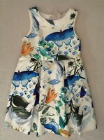 BNWT NEXT Girls Multi Floral Butterfly Prom Dress Party Occasion 3-4 years