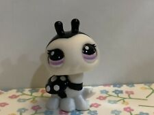 Littlest Pet Shop LPS Authentic 2248 Black & White Ladybug Blythe Pet Purple Eye