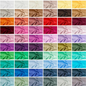 Plain 100% Cotton Fabric Quilting Material Fat Quarters Embroidery Dressmaking