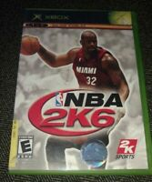 NBA 2K6 - XBOX - COMPLETE WITH MANUAL - FREE S/H - (TT)